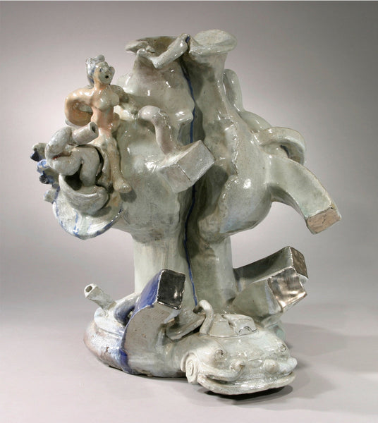 "Viola Frey ""Oakland Myths Cracked Vase"""