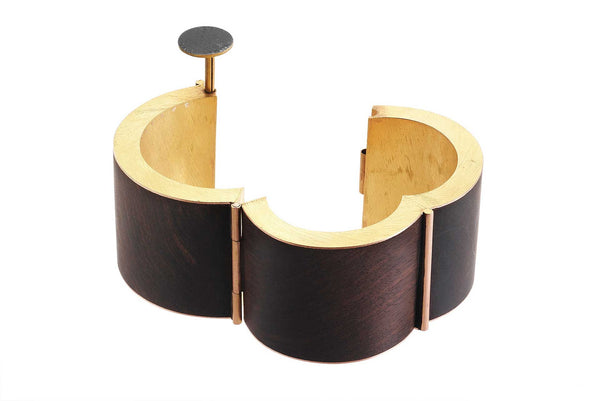 Giampaolo Babetto Yellow Gold and Ebony Bracelet