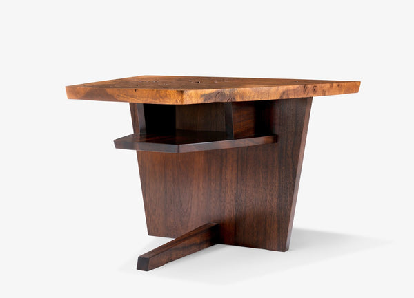 George Nakashima Custom End Table with Shelf