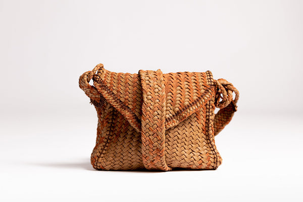 Irthi Safeefah x Camel Leather Bags Design Labs Collection - Safeefah Desert Bag (brown)