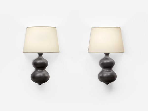 Georges Jouve Pair Of Ceramic Wall Lights
