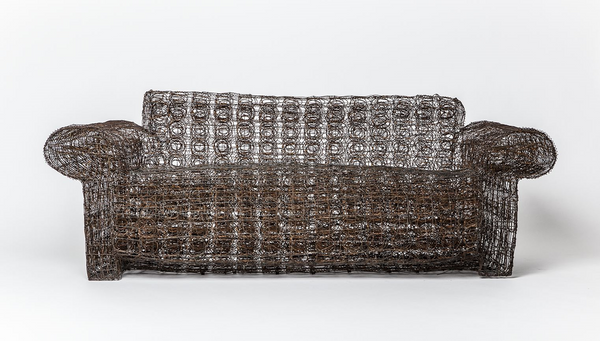 "Forrest Myers ""Untitled"" wire couch"
