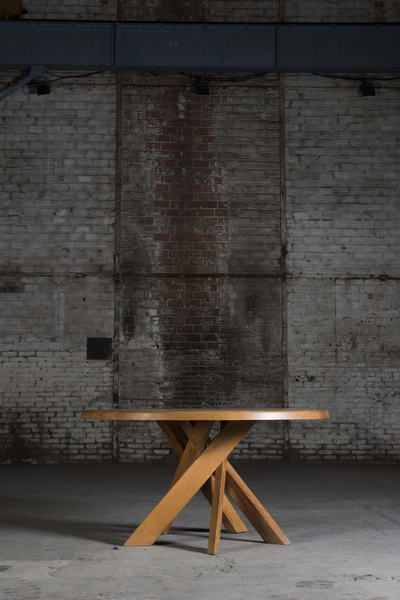 "Pierre Chapo ""T21D"" dining table"