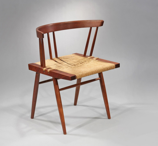 George Nakashima Grass-Seated Chair