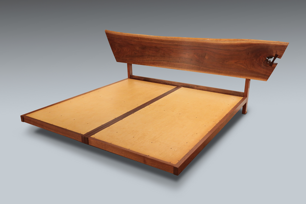 George Nakashima King Size Bed with Platform