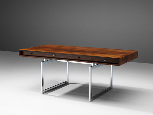 Bodil Kj¾rEarly Executive Rosewood Writing Table and Cabinet