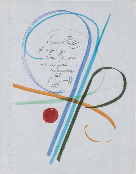 Gio Ponti Handwritten note