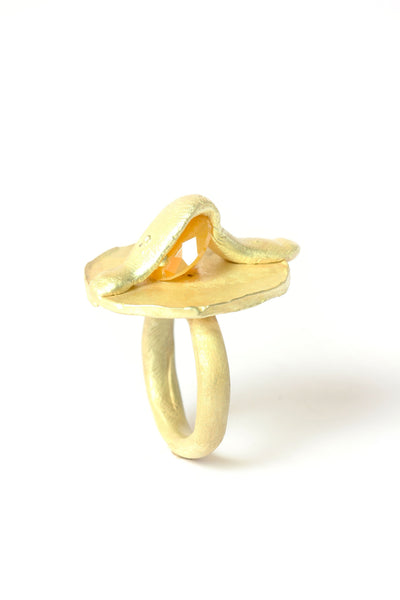 Karl Fritsch Gold Ring with Cubic Zirconia
