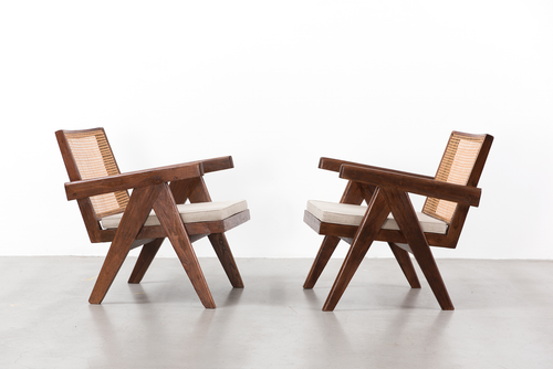 Pierre Jeanneret Pair of Easy Armchairs