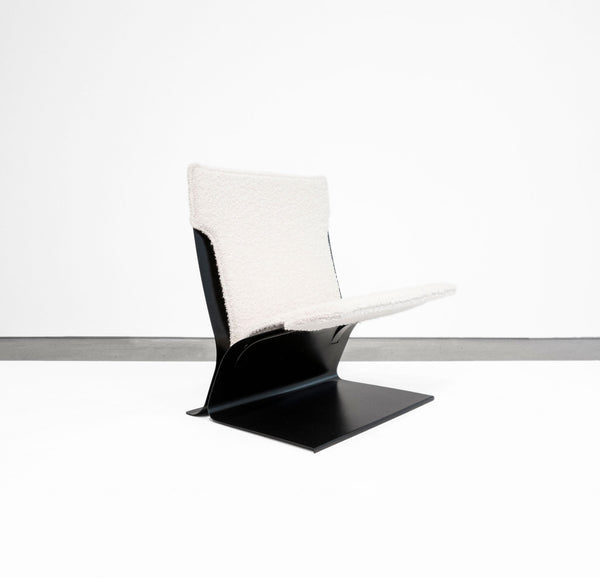 Pierre Folie Chauffeuse Steel Lounge Chair