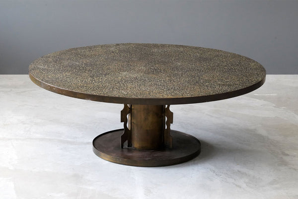 "Philip LaVerne and Kelvin LaVerne, ""Etruscan"" coffee table"