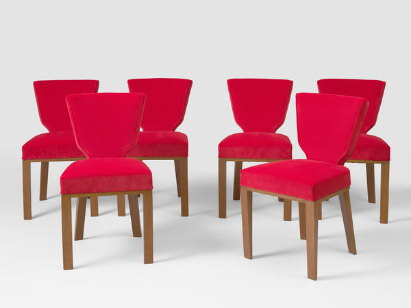 Jean Royère Set of 6 Écusson chairs