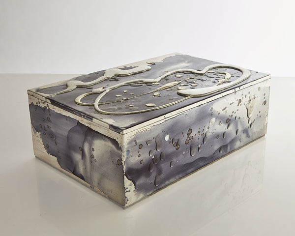 Nancy Lorenz White Gold, Silver, and Mother of Pearl Box.