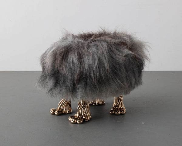 "The Haas Brothers ""Eat, Grey, Love"" Beast Foot Stool"
