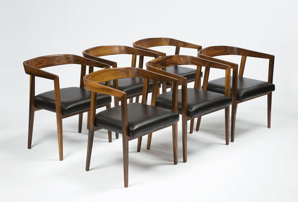 Joaquim Tenreiro Set of Six Chairs