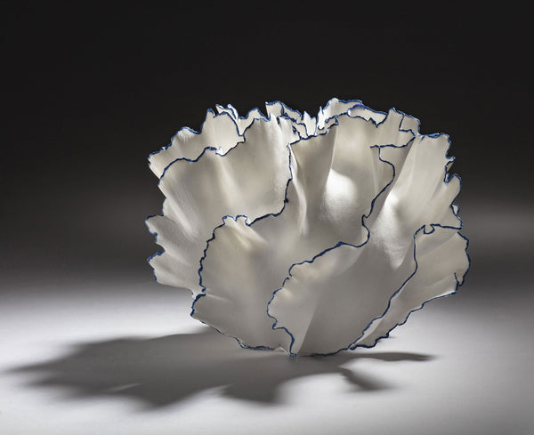 Sandra Davolio Vessel With Blue Edges VII