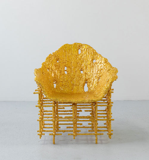 Chris Schanck Shell Chair: Red Gold