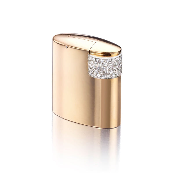 Cartier Art Deco Gold, Platinum, and Diamond Lighter