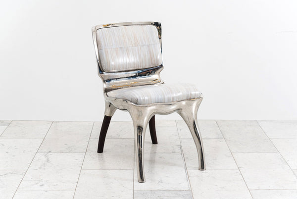 Alex Roskin Tusk Low Chair in Polished Aluminum