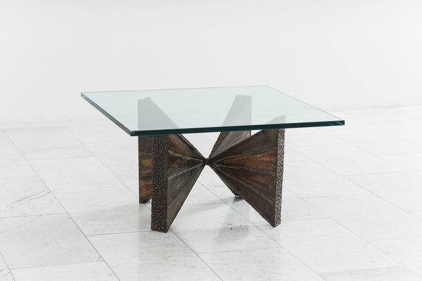 Paul Evans Sculptured Metal Cocktail Table