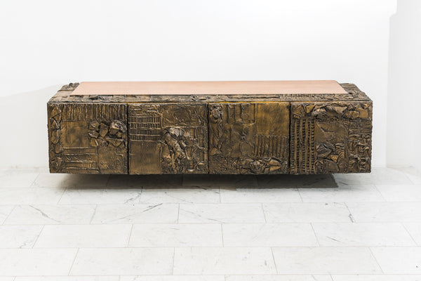 Paul Evans Sculpted Bronze Console