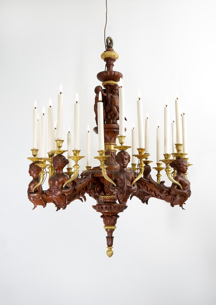 Fourdinois Style of Henri Auguste Chandelier