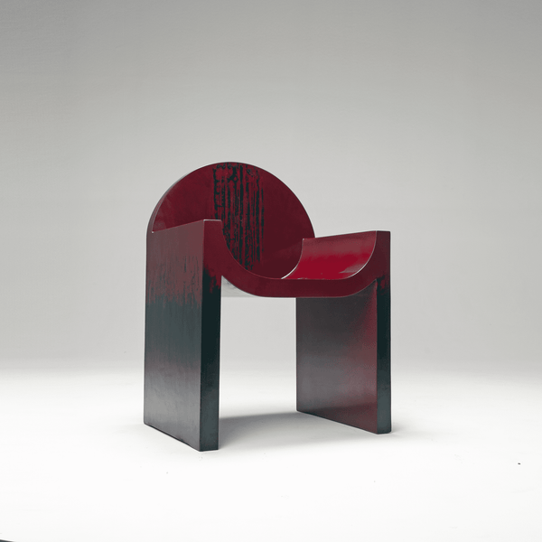 Naihan Li&Zhou Runda Lacquer Chair #1 in Burgundy