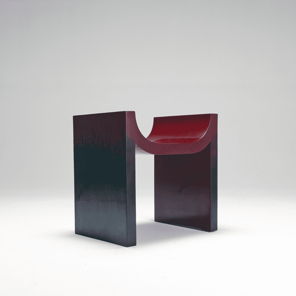 Naihan Li&Zhou Runda Lacquer Chair #2 in Burgundy