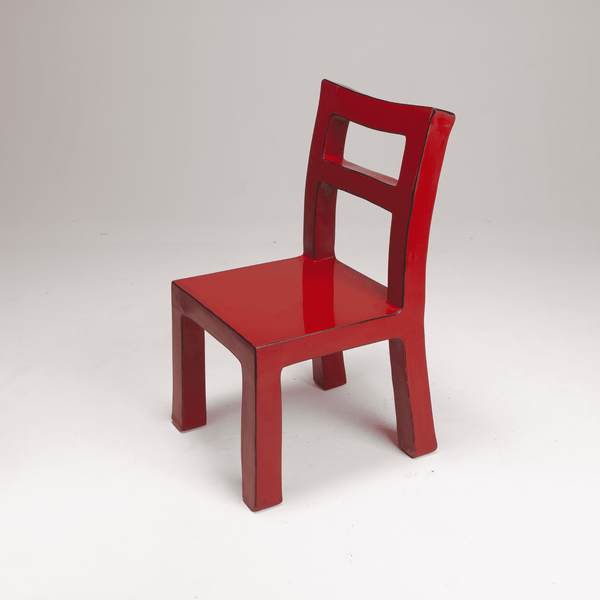 Naihan Li&Zhou Runda Lacquer Chair #3 in Crimson