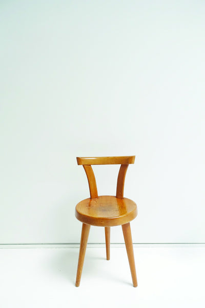 Charlotte Perriand Wood Chair with 3 Legs