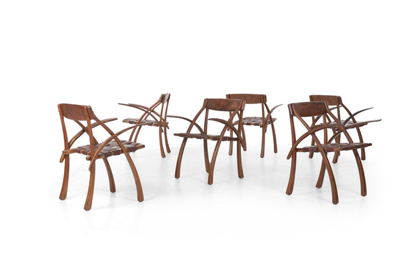 Arthur Espenet Carpenter Dining Chairs Set of 6