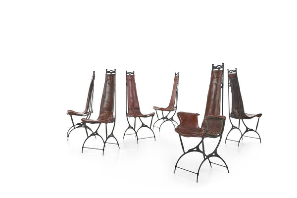 Francois and Sido Thevenin Set of 8 Dining Chairs
