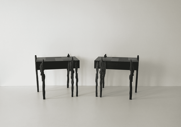 Jean-Luc Le Mounier Pair of Empreinte Side Tables