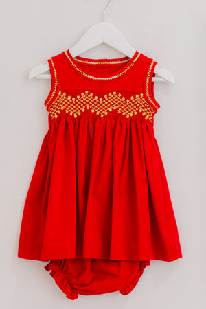 Zara Dress with Embroidered Mask