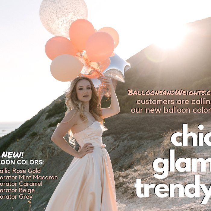 Trendy Balloon Colors Now Available!