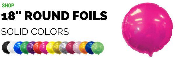 "18"" Round Foil Balloons"