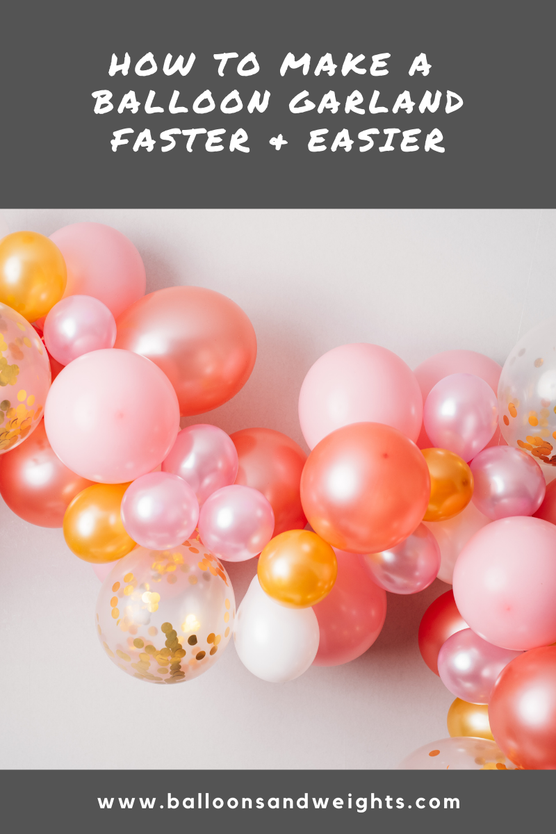 Balloon Garland Tips from Party Pros - Faster and Easier DIY Balloon Garland