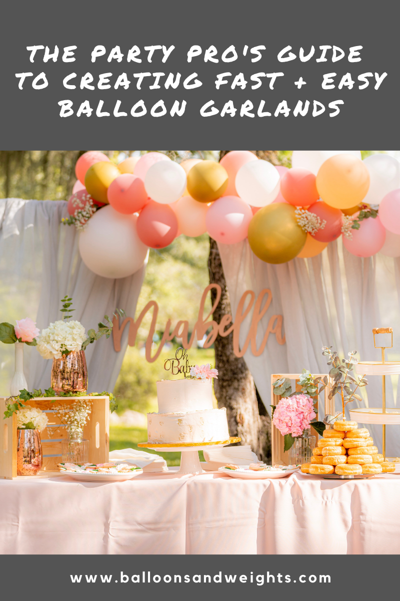 Balloon Garland Tips from Party Pros - Make DIY Balloon Garlands Faster and Easier