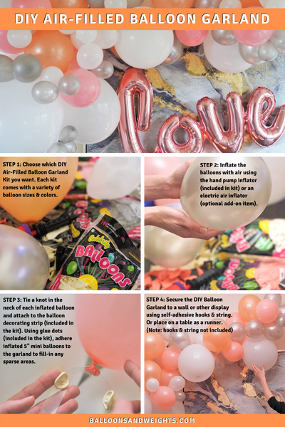 50-ft DIY Air Filled Balloon Garland Kit - How To Easily Create DIY Balloon Garlands