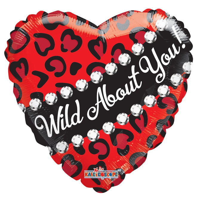 18 Inch Wild About You Foil Balloon | 100 pcs
