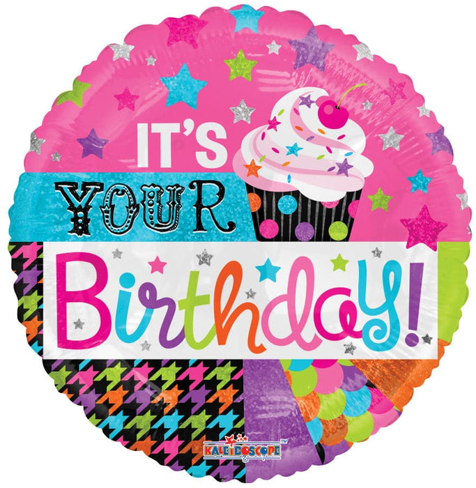 "18"" Happy Birthday Cupcake Foil Balloons 