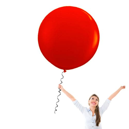 Bulk 36 Inch Latex Balloons | Decorator Cherry Red | 10 pc bag x 10 bags