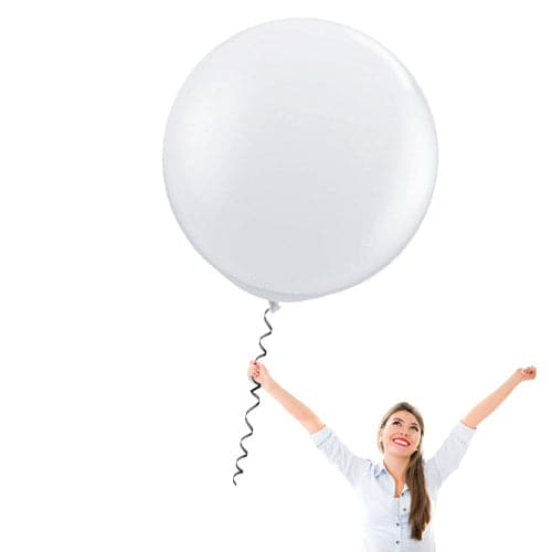 36 Inch Latex Balloons | Decorator Clear | 10 pc bag