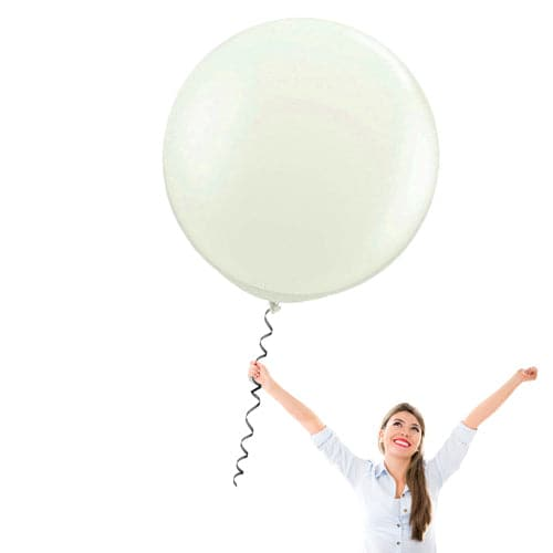 24 Inch Latex Balloons | Decorator Ivory | 10 pc bag