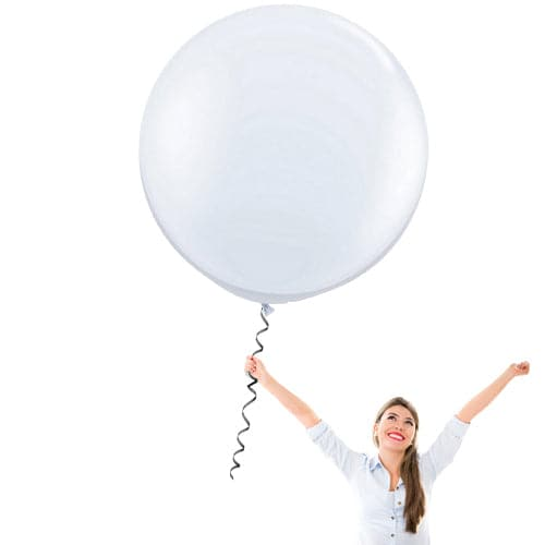 36 Inch Latex Balloons | Decorator Snow White | 10 pc bag