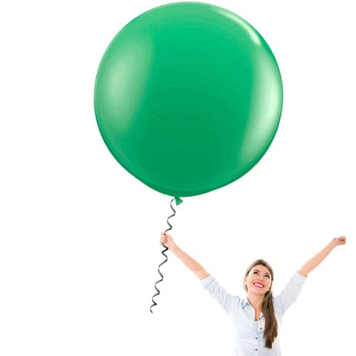 24 Inch Latex Balloons | Pastel Green | 10 pc bag