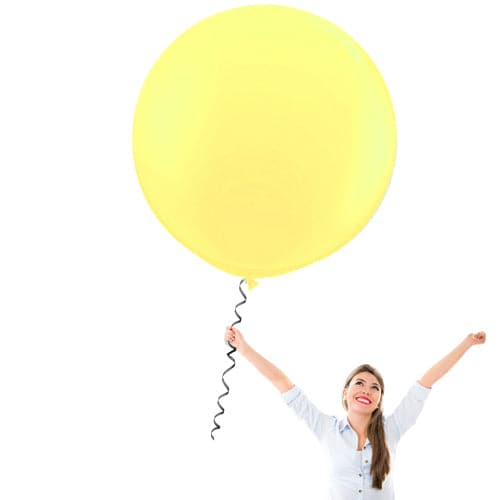 24 Inch Latex Balloons | Pastel Yellow | 10 pc bag