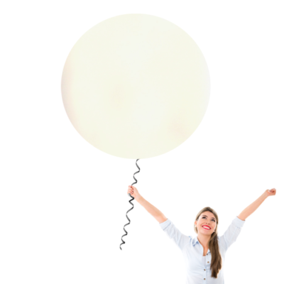 30 Inch Latex Balloons | Pearlized White | 10 pc bag