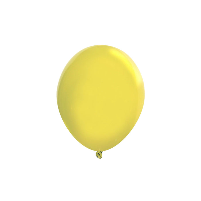 5 Inch Yellow Balloons | Decorator Canary Yellow Latex Balloons | 144 pc bag