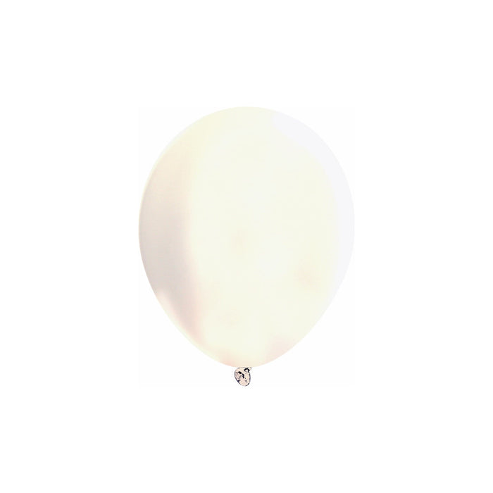 5 Inch Pearlized White Balloons | Pearlized White Latex Balloons | 144 pc bag
